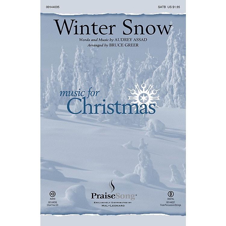 PraiseSongWinter Snow CHOIRTRAX CD by Audrey Assad Arranged by Bruce Greer