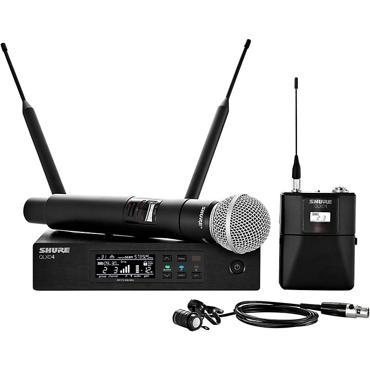 Shure Wireless Bodypack and Vocal Combo System with WL185 and SM58 Band G50