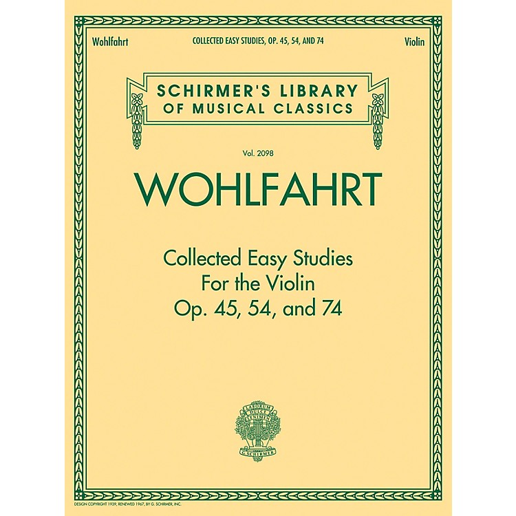 G. SchirmerWohlfahrt - Collected Easy Studies for the Violin String Method Series