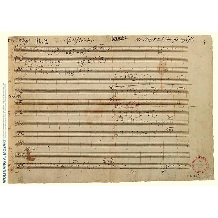 Axe HeavenWolfgang Amadeus Mozart Music Manuscript Poster - Piano Concerto in A Major