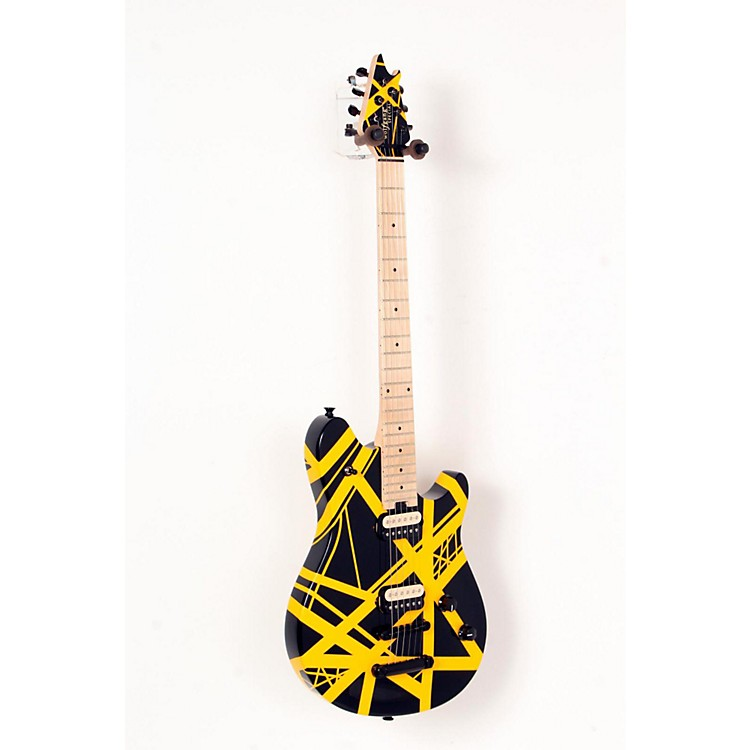 EVHWolfgang Special Tunamatic Bridge Electric GuitarBlack with Yellow Stripes888365671796