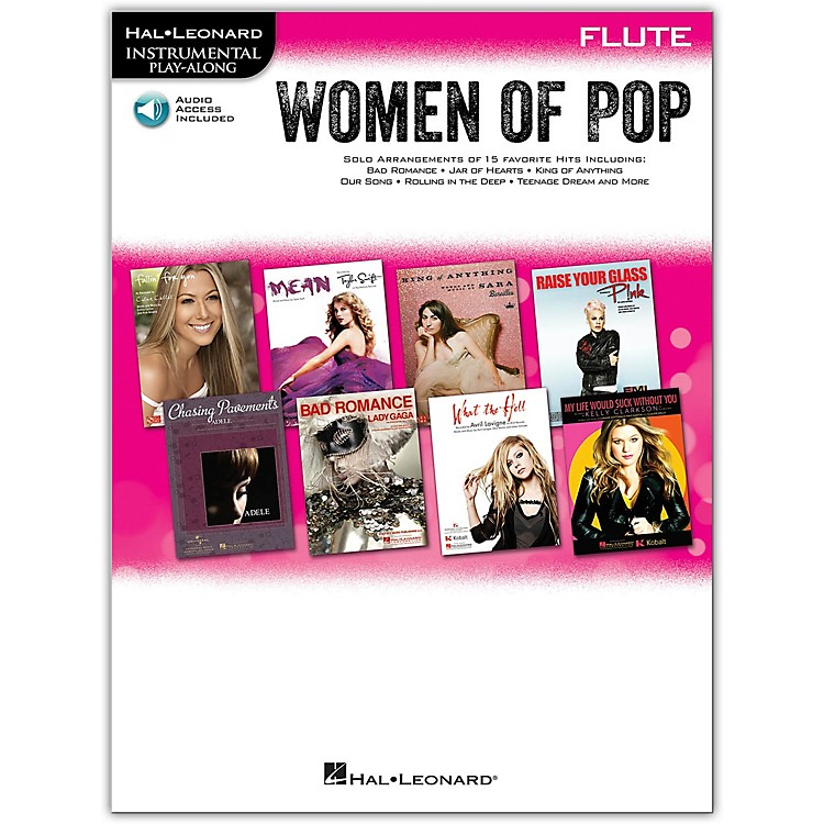 Hal Leonard Women Of Pop For Flute - Instrumental Play-Along Book/Online Audio