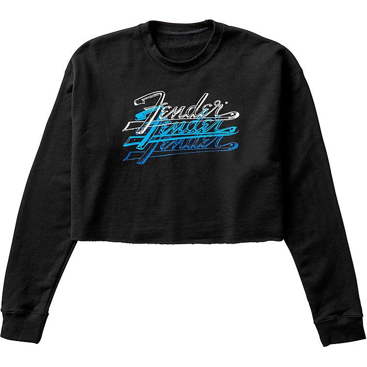 Fender Women's Crop Pullover Large Black