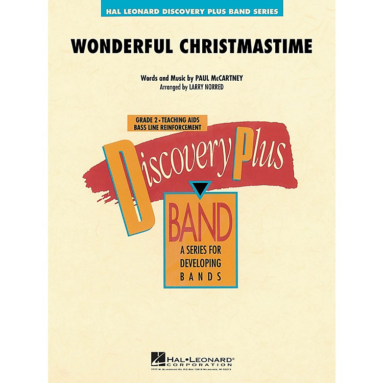 Hal LeonardWonderful Christmastime - Discovery Plus Concert Band Series Level 2 arranged by Larry Norred