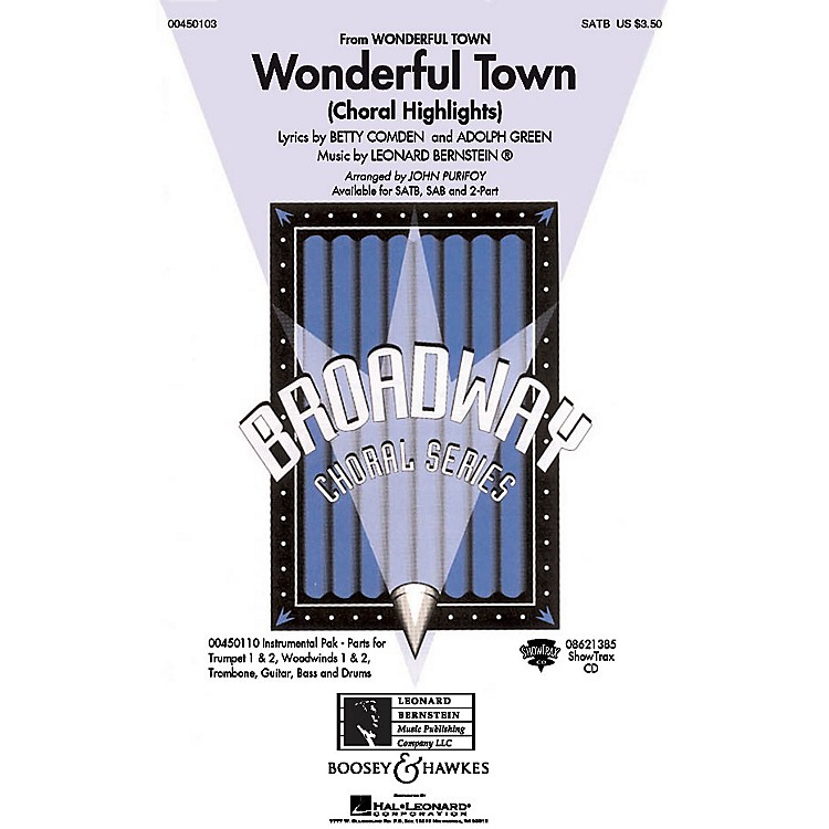 Hal LeonardWonderful Town (Choral Highlights) SAB Arranged by John Purifoy
