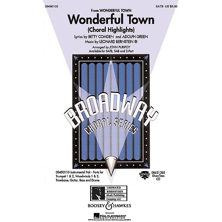 Hal LeonardWonderful Town (Choral Highlights) SATB Arranged by John Purifoy