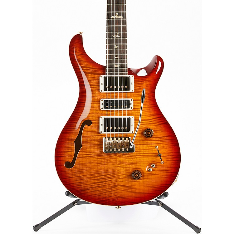PRS Wood Library Special Semi-Hollow 10-Top with Torrified Maple Neck Electric Guitar Dark Cherry Burst