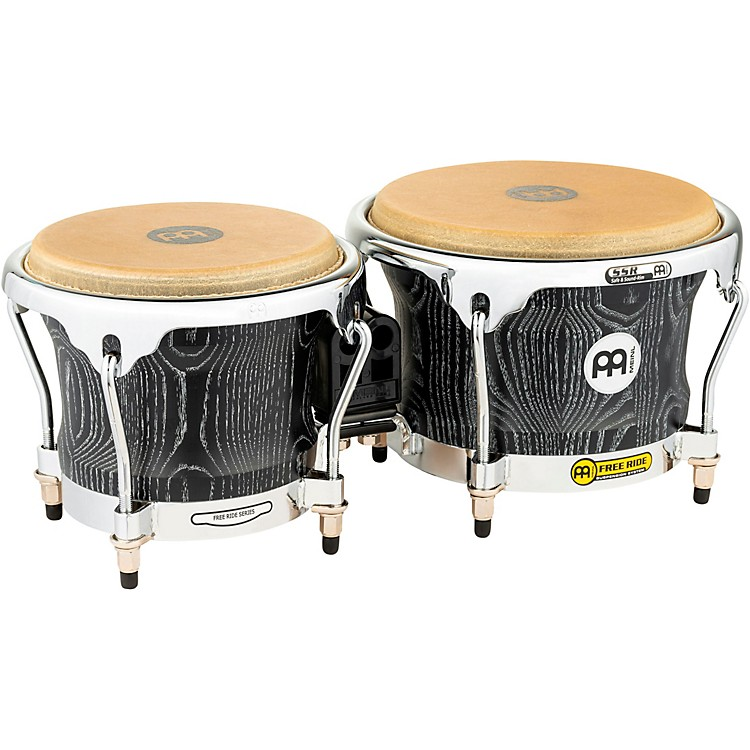 Meinl Woodcraft Bongos 7 and 8.5 in. Vintage Black