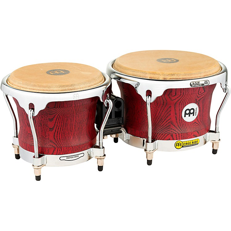 MeinlWoodcraft Bongos7 and 8.5 in.Vintage Red