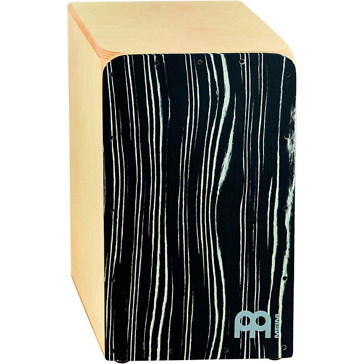 Meinl Woodcraft Collection Snare Cajon Striped Onyx Frontplate Medium
