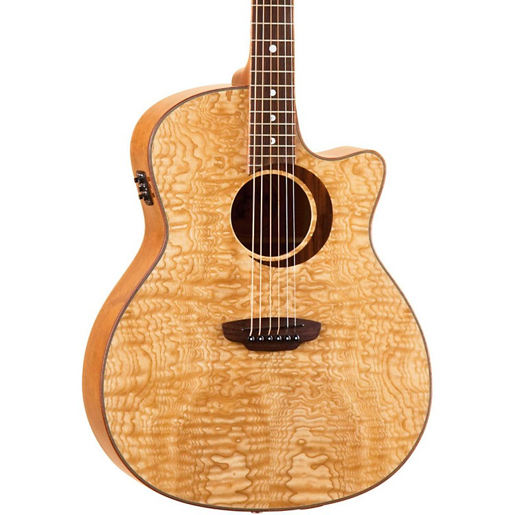 Luna GuitarsWoodland Series Quilted Ash Acoustic-Electric Guitar