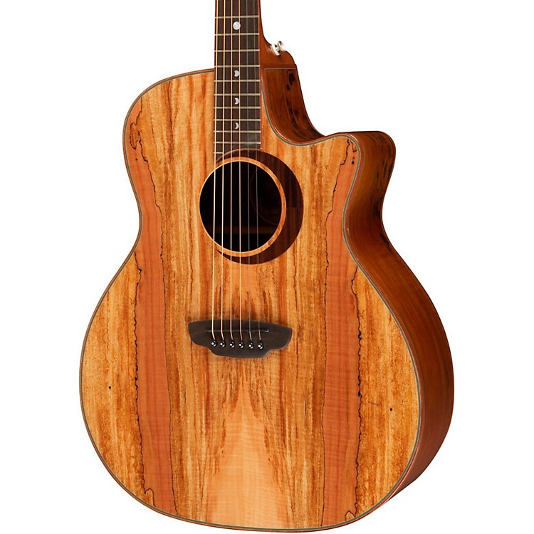 Luna GuitarsWoodland Series Spalted Maple Acoustic-Electric Guitar