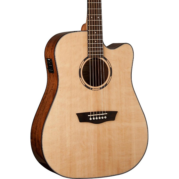 WashburnWoodline Series WLD10SCE Acoustic-Electric Cutaway Dreadnought GuitarNatural