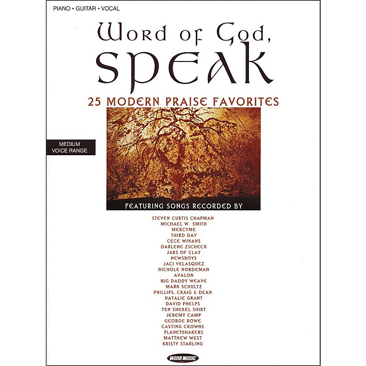 Word Music Word of God Speak Piano, Vocal, Guitar Songbook