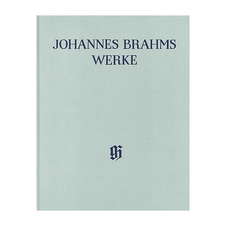 G. Henle Verlag Works for Choir and Quartets for Mixed Voices with Piano or Org, Vol 2 Score by Brahms Edited by Wiechert