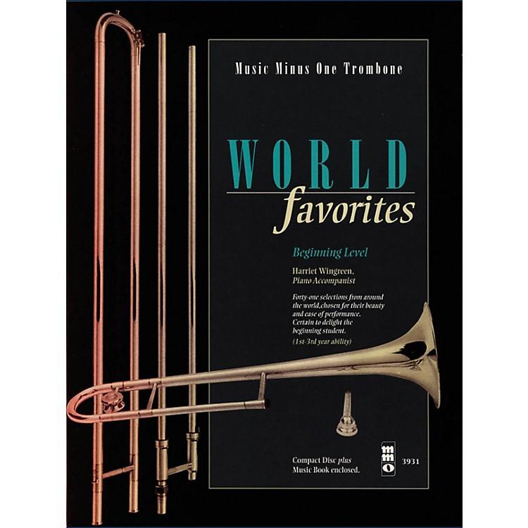 Music Minus OneWorld Favorites - Beginning Level (Music Minus One Trombone) Music Minus One Series Softcover with CD