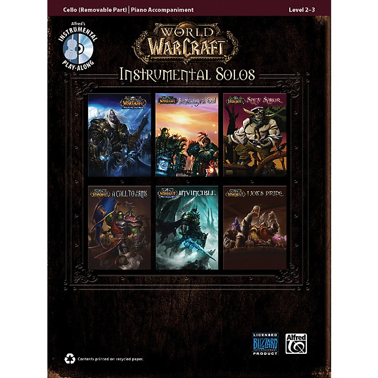 AlfredWorld of Warcraft Instrumental Solos for Strings Cello Book & CD