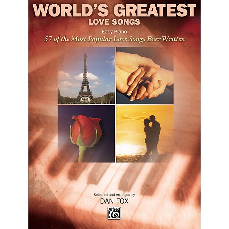 AlfredWorld's Greatest Love Songs Easy Piano