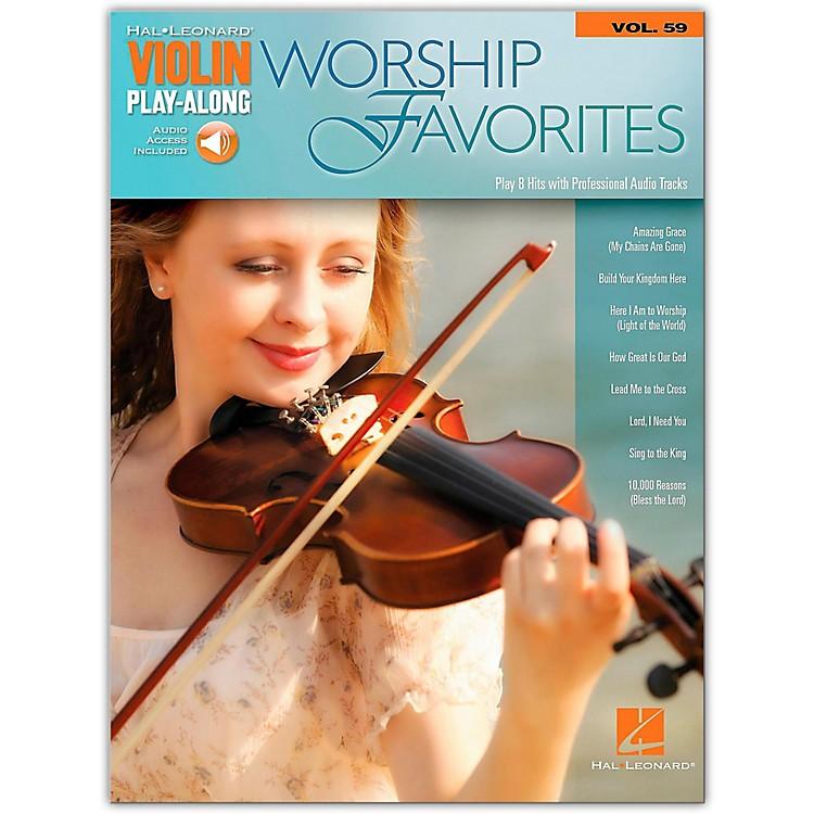 Hal LeonardWorship Favorites Violin Play-Along Volume 59 Book/Online Audio