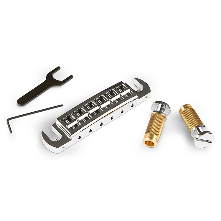 TonePros Wraparound PRS Bridge and Locking Stud Set Chrome