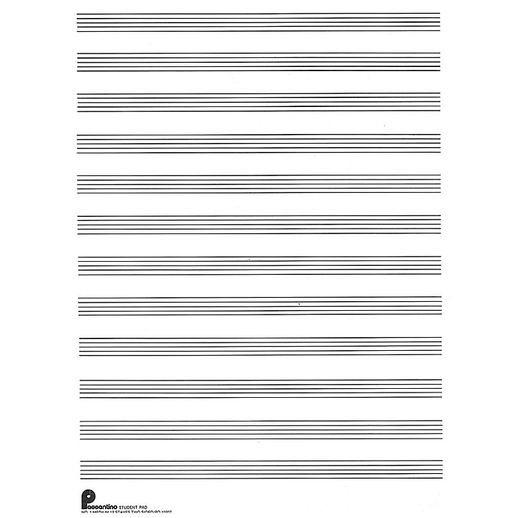 Music Sales Writing Pad No. 1: 12-stave (both sides) (Passantino Manuscript Paper) Music Sales America Series