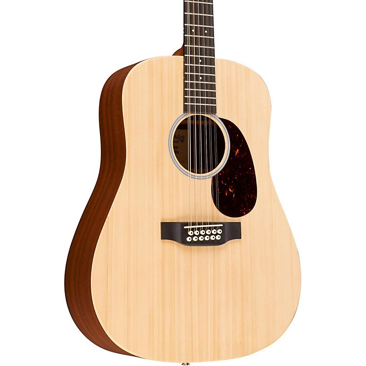 Martin X Series Custom X1D12E-CST Dreadnought 12-String Acoustic-Electric Guitar Natural