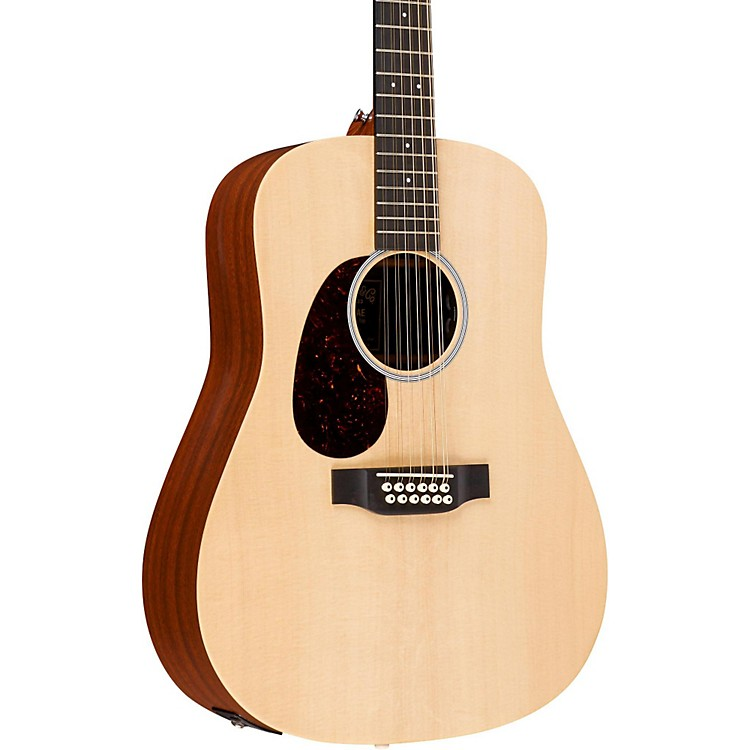 MartinX Series D12X1AE-L Dreadnought Left-Handed 12-String Acoustic-Electric GuitarNatural
