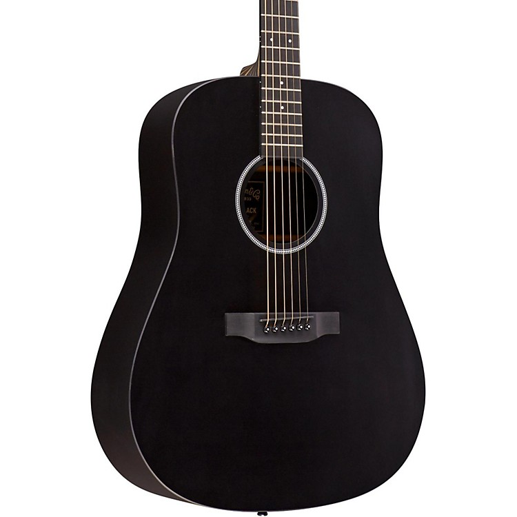 Martin X Series DXAE Dreadnought Acoustic-Electric Guitar Black 888365908410