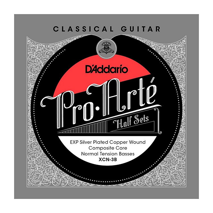 D'Addario XCN-3B Pro-Arte Normal Tension Classical Guitar Strings Half Set