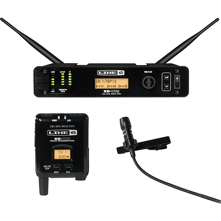 Line 6 XD-V75L Professional Digital Wireless Lavalier System Black