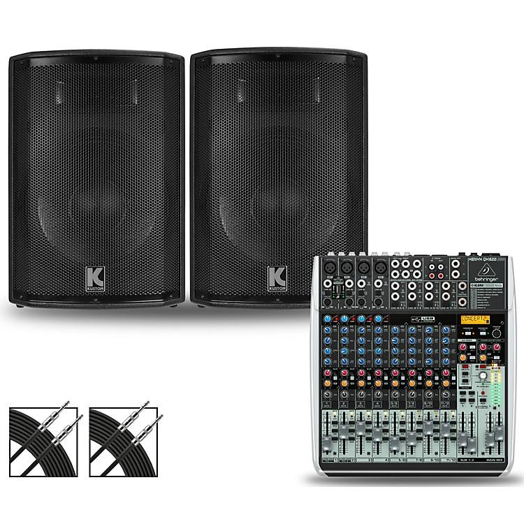 BehringerXENYX QX1622USB Mixer and Kustom HiPAC Speakers10