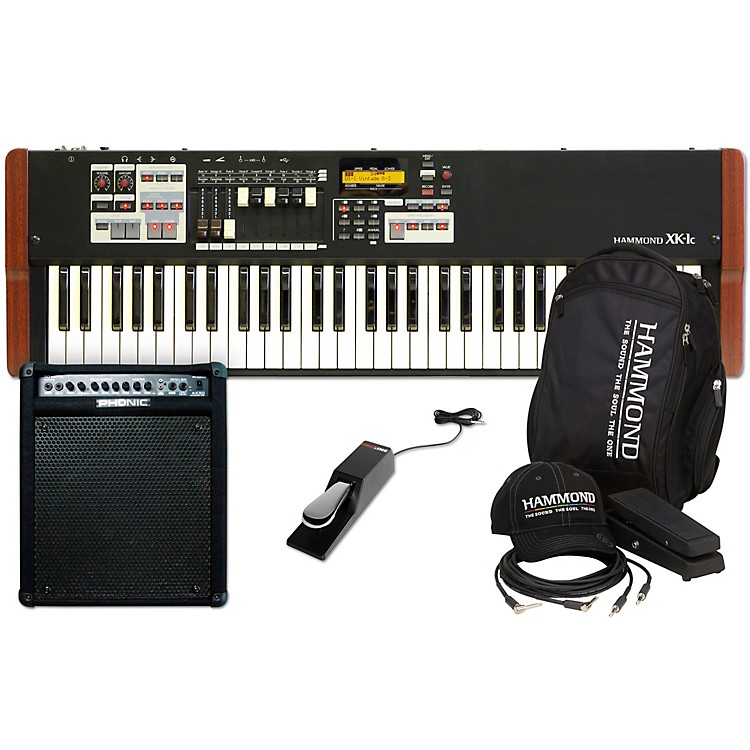 HammondXK-1C Stage Keyboard with Accessory Pack, Keyboard Amplifier, and Sustain Pedal