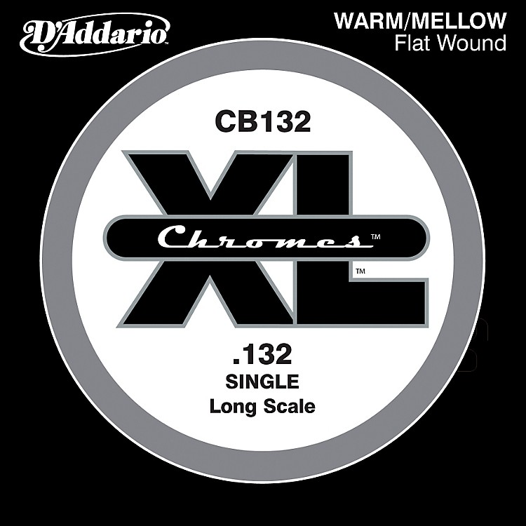 D'AddarioXL Chromes CB132 Single Flat Wound .132