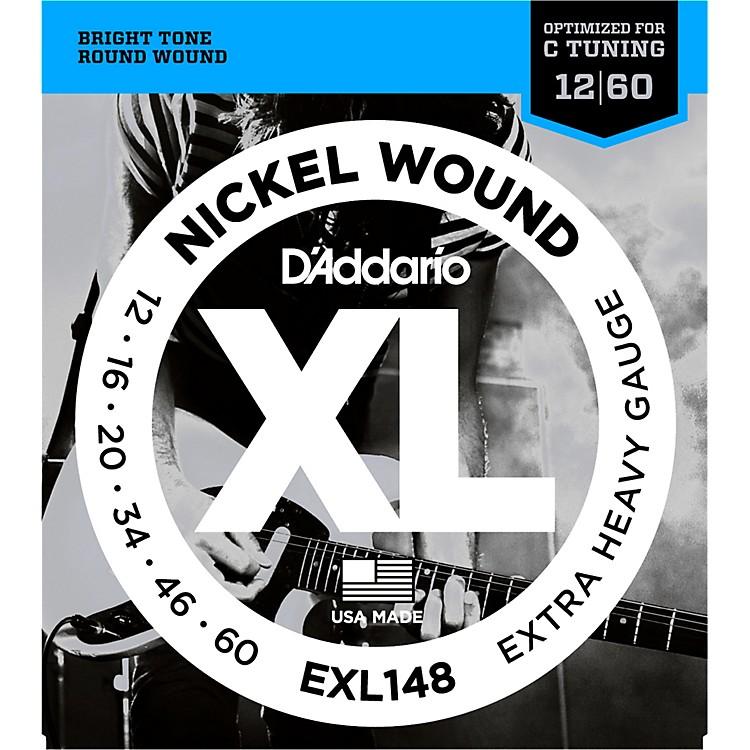 d 39 addario xl148 nickel wound drop c tuning electric guitar strings music123. Black Bedroom Furniture Sets. Home Design Ideas