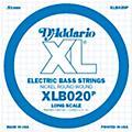 D'AddarioXLB020P Electric Bass Nickel Single String-thumbnail