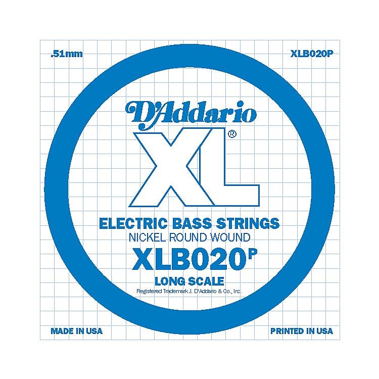 D'AddarioXLB020P Electric Bass Nickel Single String