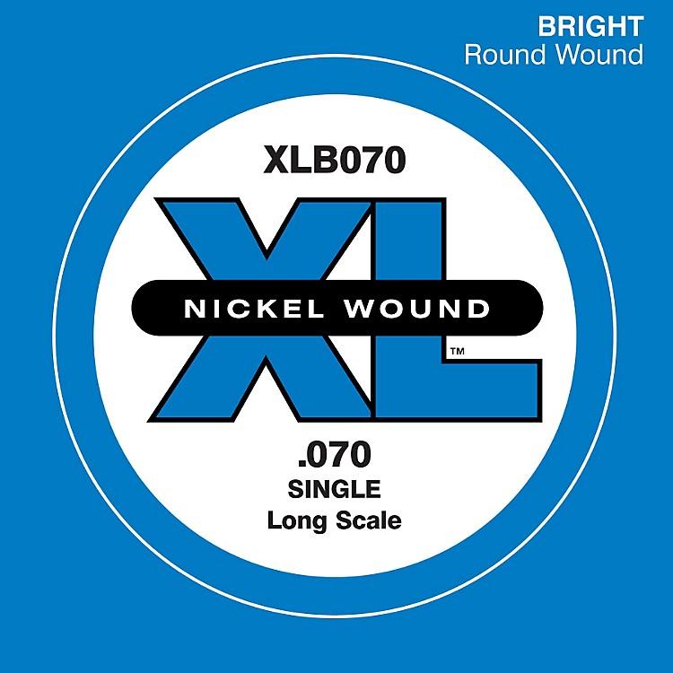 D'AddarioXLB070 Bass Nickel Single Strings