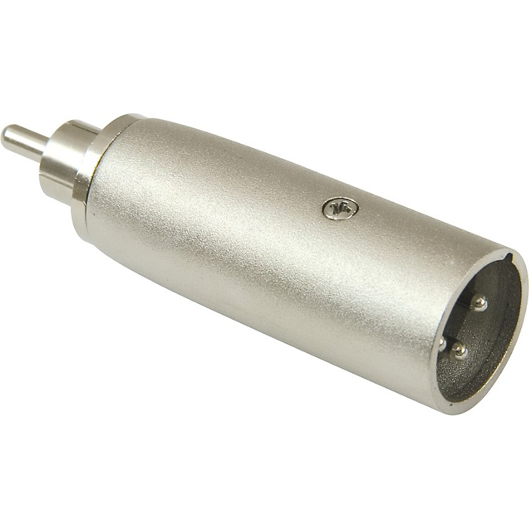American Recorder Technologies XLR Male to RCA Male Adapter Nickel