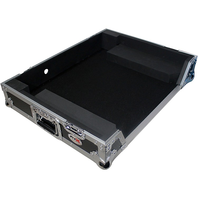 ProX XS-DJ808W ATA-Style Flight Road Case with Wheels for Roland DJ-808 or Denon MC700 DJ Controllers Black/Chrome