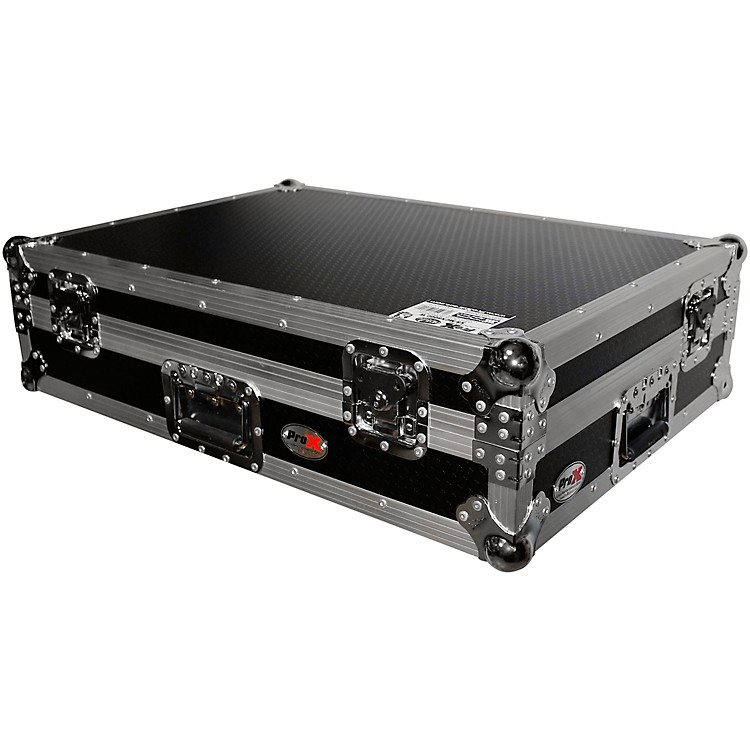 ProX XS-MCX8000W ATA Style Flight Road Case with Wheels for Denon MCX8000 DJ Controller Black/Chrome