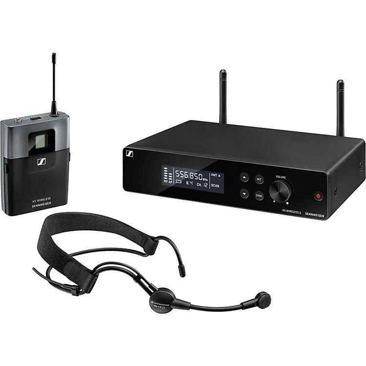 Sennheiser XSW2-ME3 Headset Wireless System A Black