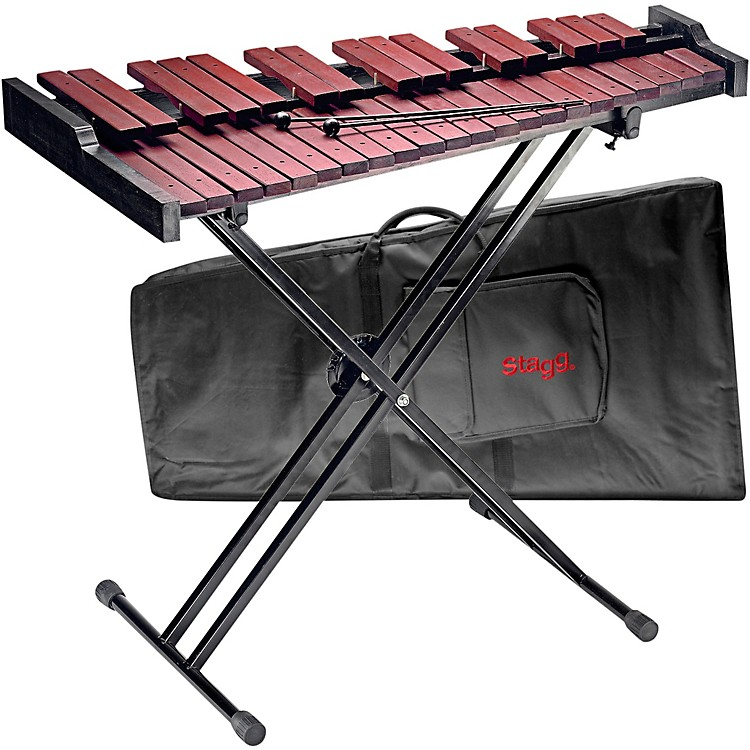StaggXylo-Set 37 HG 3 Octave Xylophone with Stand and Bag