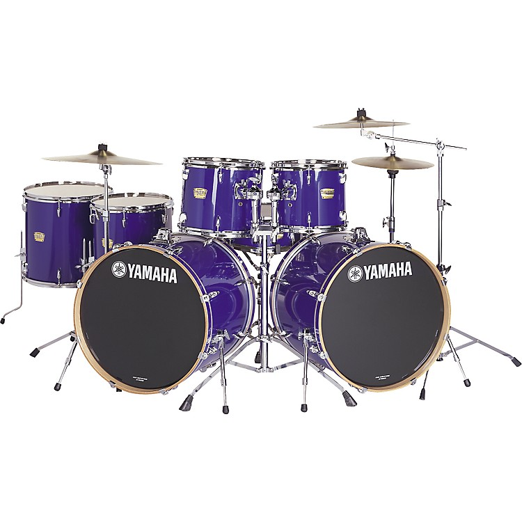 yamaha yd series 7 piece double bass drum set music123. Black Bedroom Furniture Sets. Home Design Ideas