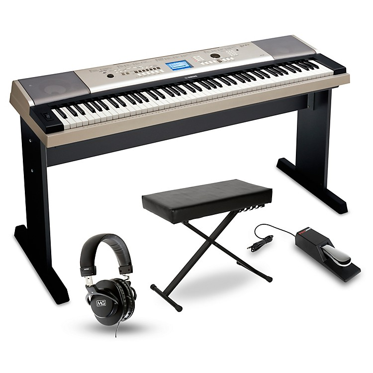 Yamaha YPG-535 88-Key Portable Grand Piano Packages  Home Package