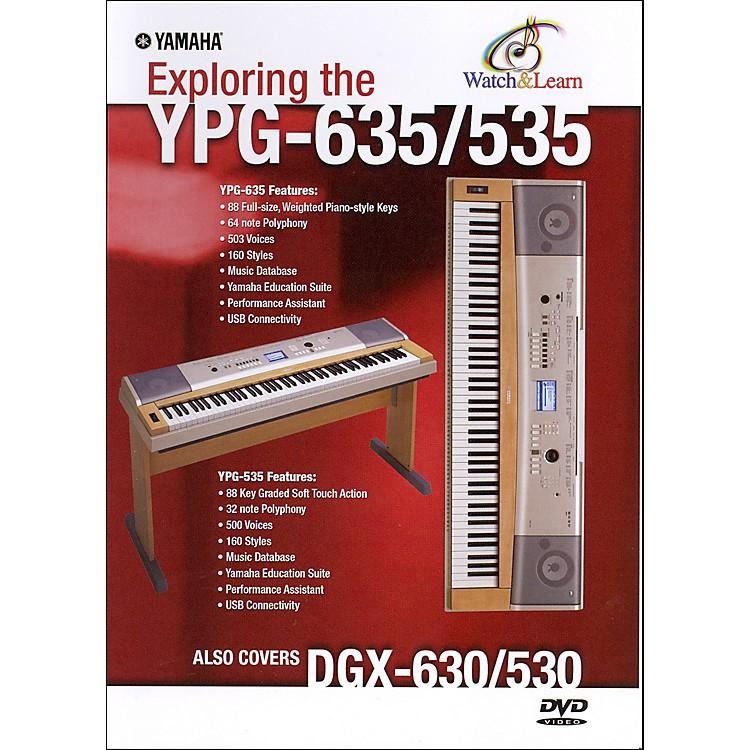 YamahaYPG-635/535 WATCH & LEARN DVD