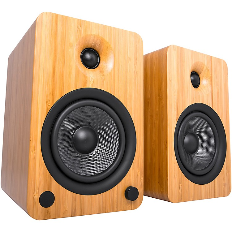 Kanto YU6 Powered Speakers with Bluetooth and Phono Preamp Bamboo