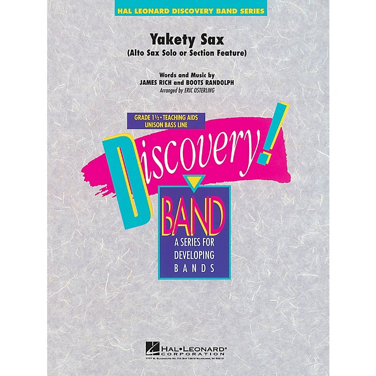 Hal Leonard Yakety Sax Concert Band Level 1.5 Arranged by Eric Osterling