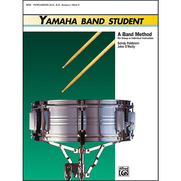 AlfredYamaha Band Student Book 2 PercussionSnare Drum Bass Drum & Accessories