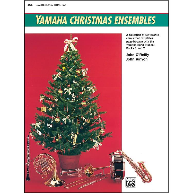 AlfredYamaha Christmas Ensembles Alto Sax Baritone Sax