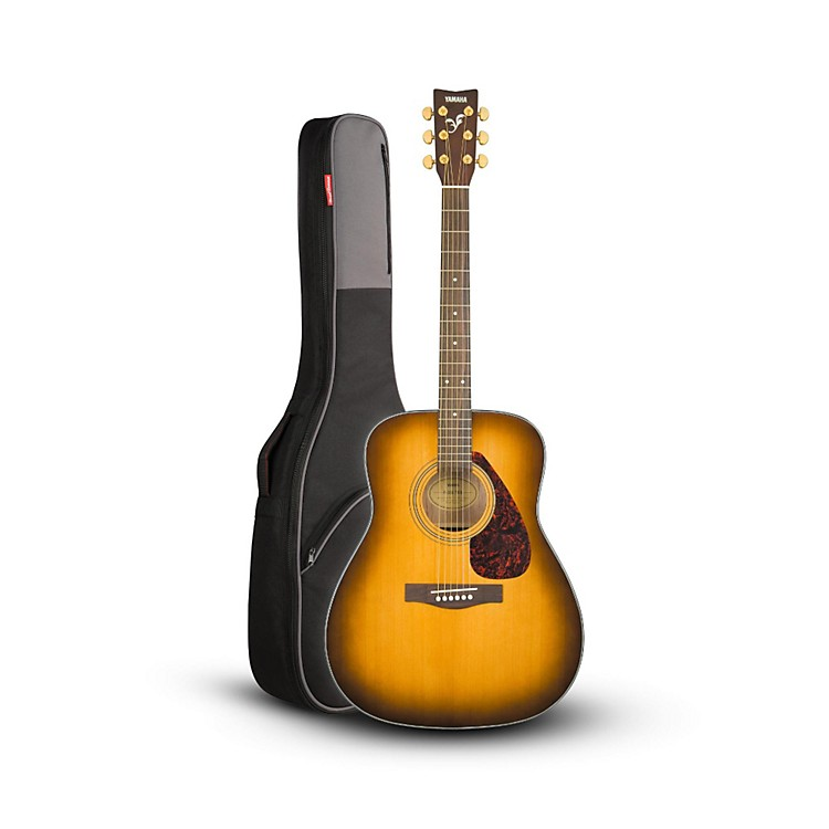 YamahaYamaha F335 Acoustic Guitar Regular Tobacco Brown Sunburst with Road Runner RR1AG Gig Bag